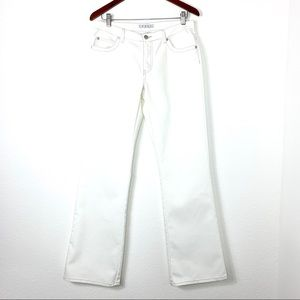 CAbi Wide Leg Flair Jeans Off White Size 6